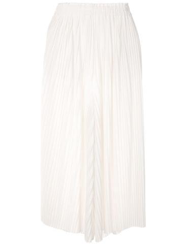 Ballsey Pleated Midi Skirt - White