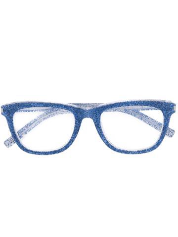 Saint Laurent - Square-frame Glasses - Men - Acetate - One Size, Blue, Acetate