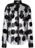 Msgm Sequined Sheer Blouse