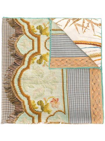 Pierre-louis Mascia Printed Silk Neck Scarf - Neutrals