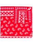 Zadig & Voltaire Bindi Paisley Print Scarf - Red