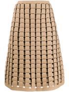Bottega Veneta Chainmail Effect A-line Skirt - Neutrals