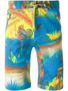 Etro Parrot Print Shorts