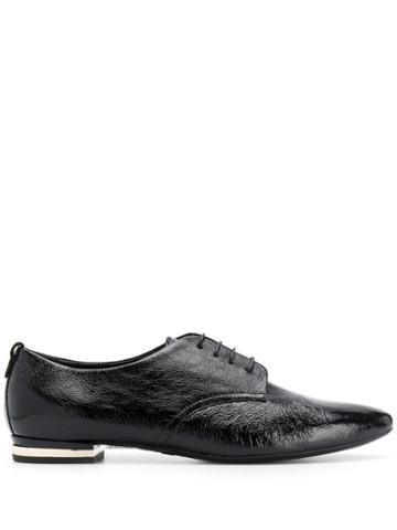 Agl Pointed Derby Shoes - Black
