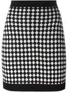 Balmain Checked Knit Skirt