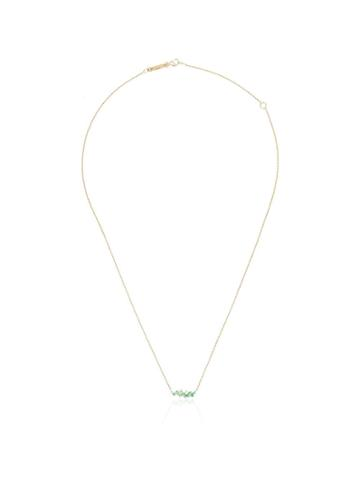Suzanne Kalan Fireworks Small Sparkler Emerald Necklace - Gold