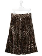Les Coyotes De Paris Teen Leopard-print Skirt - Brown