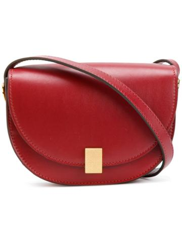 Victoria Beckham - Contrast Shoulder Bag - Women - Calf Leather/calf Suede - One Size, Red, Calf Leather/calf Suede