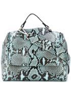 Orciani - Snake Print Shoulder Bag - Women - Cotton/leather - One Size, Black, Cotton/leather