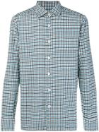 Kiton Gingham Checked Shirt - Blue