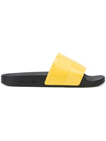 Adidas By Raf Simons Rs Adilette Checkerboard Slides - Black