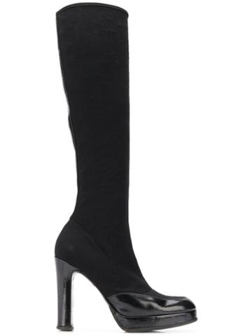 Dolce & Gabbana Pre-owned 1990's Under-the-knee Boots - Black