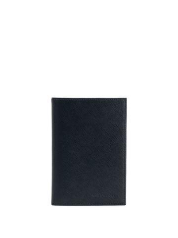 Karl Lagerfeld Logo Embossed Passport Holder - Black