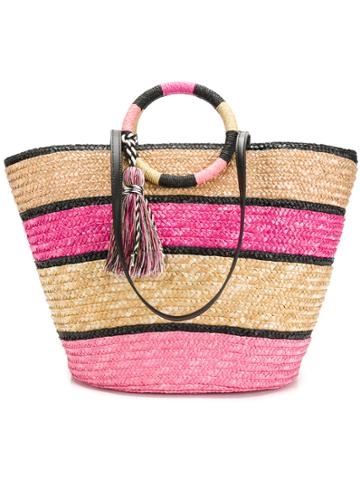 Rebecca Minkoff Colour Block Woven Shopper Bag - Pink & Purple