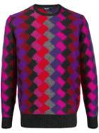 Drumohr Argyle Knit Jumper - Red