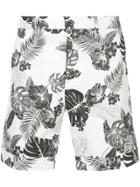 Loveless Leaf Print Shorts - White