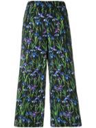 Vivetta Floral Wide Leg Trousers - Black