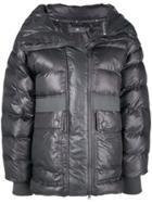 Adidas By Stella Mccartney Zip Front Puffed Jacket - Grey