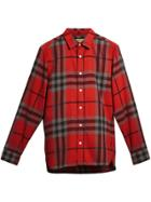 Burberry Check Flannel Shirt - Red