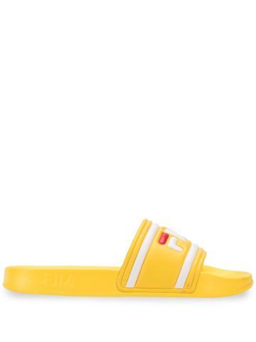Fila Logo Strap Slides - Yellow