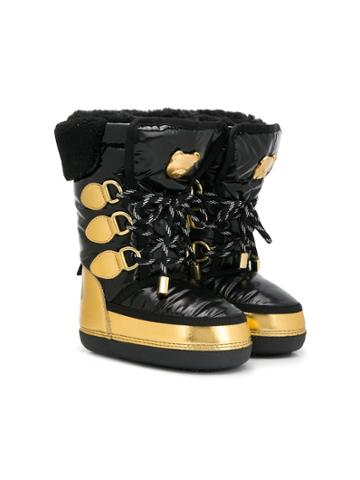 Moschino Kids Teen Lace-up Snow Boots - Black
