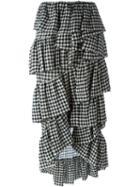 Isa Arfen Checked Layered Skirt