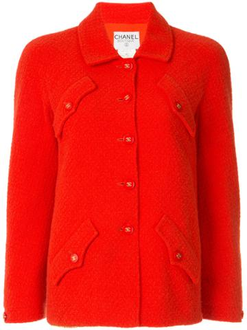 Chanel Vintage Classic Fitted Jacket - Red