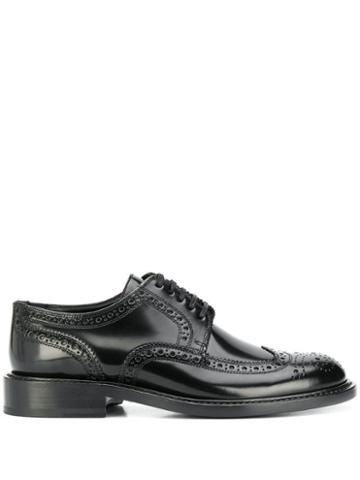 Saint Laurent Lace-up Leather Oxfords - Black