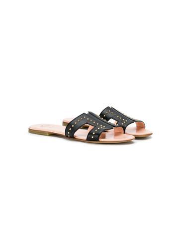 Elisabetta Franchi La Mia Bambina Studded Sandals - Black