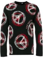 Love Moschino Peace And Love Sweater - Black