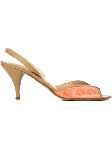 Fendi Pre-owned Slingback Sandals - Yellow