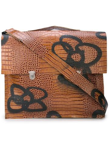 Camiel Fortgens Floral Print Messenger Bag - Brown