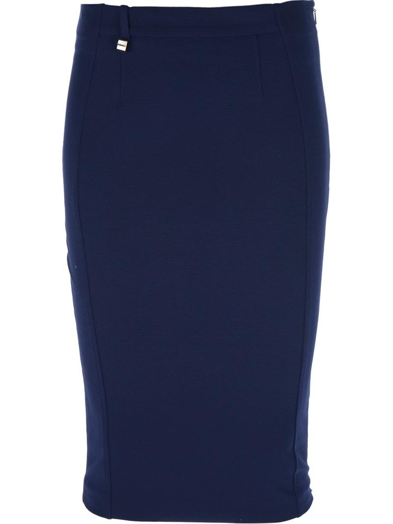 Pinko Fitted Pencil Skirt Lookmazing