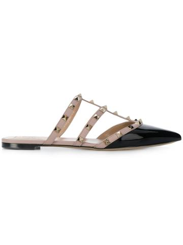 Valentino Rockstud Slippers - Black