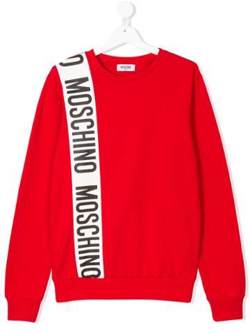 Moschino Kids Logo Patch Sweatshirt - Red