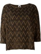 M Missoni Zigzag Knitted Top