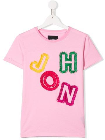 John Richmond Junior Teen Embroidered T-shirt - Pink