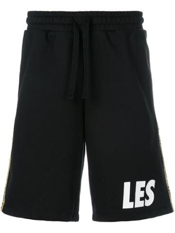 Les Benjamins Side Strip Shorts - Black