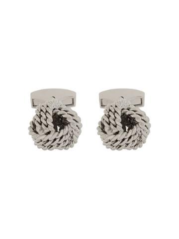 Rt By Tate Tateossian Rope Cufflinks - Silver