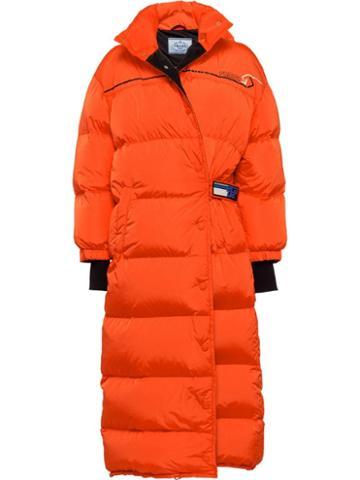 Prada Puffer Coat - Orange
