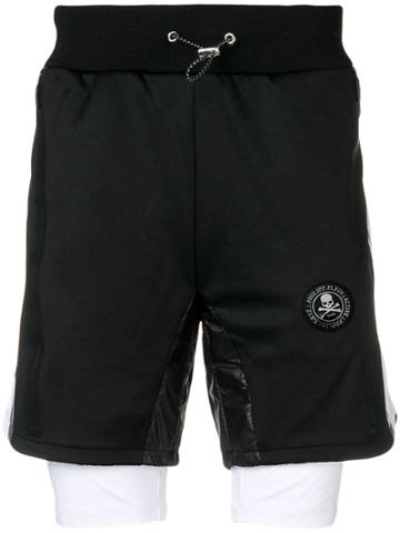 Philipp Plein Xyz Scratch Shorts - Black