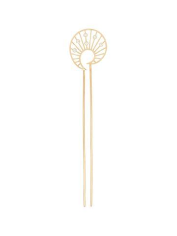 Apples & Figs Venus Shell Hair Pin - Metallic