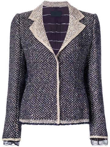 Prada Vintage Tweed Jacket - Pink & Purple