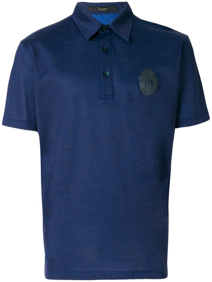 Billionaire Shortsleeve Polo Shirt - Blue