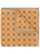Eleventy Geometric Patterned Scarf - Yellow