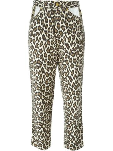 Jean Paul Gaultier Vintage Leopard Print Jeans