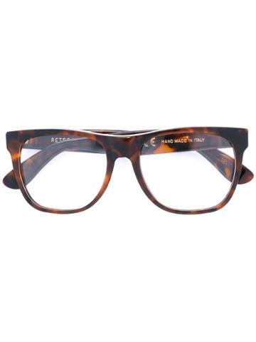 Classic Optical Glasses - Unisex - Acetate - 55, Brown, Acetate, Retrosuperfuture