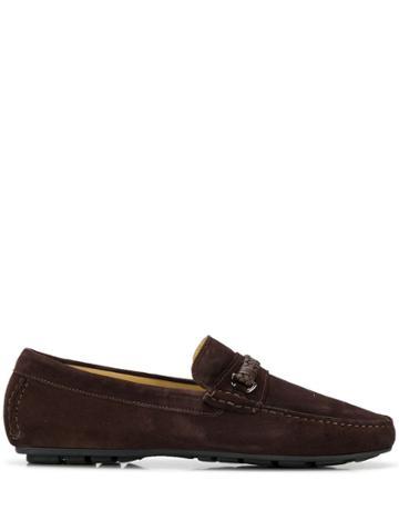 Corneliani Woven Loafers - Brown