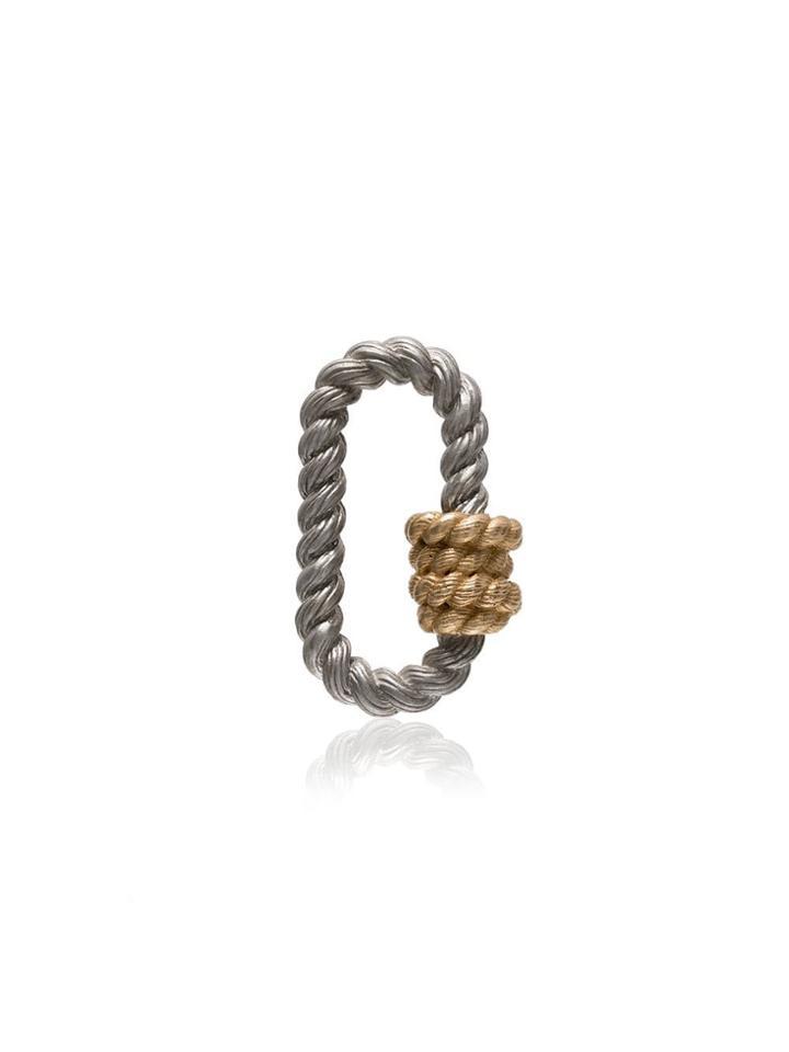 Marla Aaron 14k Rose Gold Twist Lock Charm - Metallic