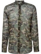 Saint Laurent Camouflage Print Shirt